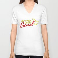 better call saul V-neck T-shirts featuring Better Call Saul by RobHansen