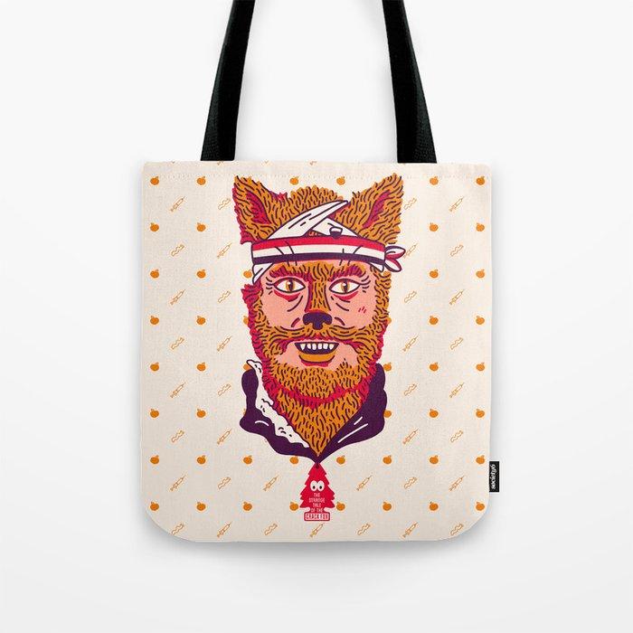 Crack Fox Tote Bag
