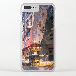 Hundertwasserhaus 3 Vienne Autriche Clear iPhone Case