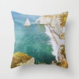 Seaside photography Whitestone cliffs Throw Pillow