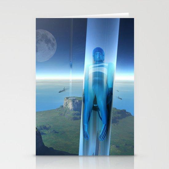 space elevator - babylon transfer station 02 Stationery Cards