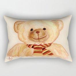 Cuddly Bear Watercolor Rectangular Pillow