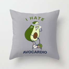 I Hate Avo cardio Throw Pillow