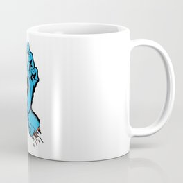 Skatebaording Screeming Hand Blue Coffee Mug