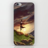 studio ghibli iPhone & iPod Skins featuring Studio Ghibli - Howl's Moving Castle by BBANDITT