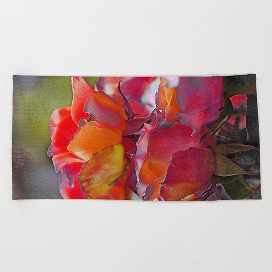 Romantic roses(9). Beach Towel