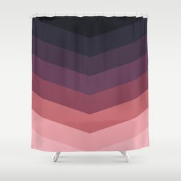 Purple Thunder Storm Shower Curtain