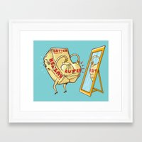 my mad fat diary Framed Art Prints featuring does my butt look fat? by Peter Kramar