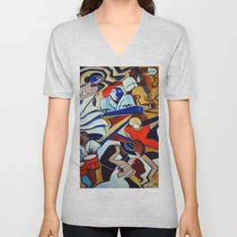 The Blue Piano Unisex V-Neck