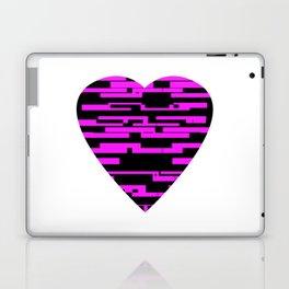 Glitching Hearts — Black and Pink Laptop & iPad Skin