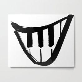 Forte piano smile Metal Print