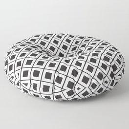 Diamond Line Grid // Black Floor Pillow