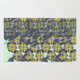 Surf Bali Flower Blue Working Pattern Series Rug
