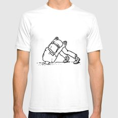 Is it over yet? SMALL Mens Fitted Tee White
