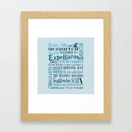 Harry Potter - All Quotes  Framed Art Print