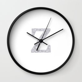Floral Letter Z Wall Clock