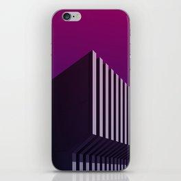 Calorifère - Brutalist purple verticality iPhone Skin