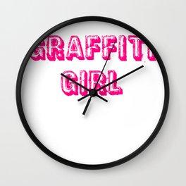 Graffiti Girl (the novel) Wall Clock