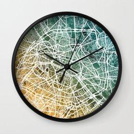Paris France City Street Map Wall Clock