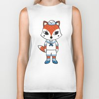 preppy Biker Tanks featuring The Preppy Fox by moochi