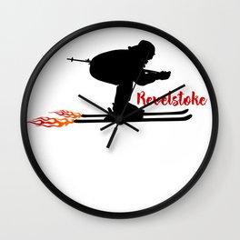 Ski speeding at Revelstoke Wall Clock