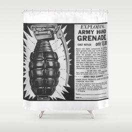 Hand Grenade Shower Curtain