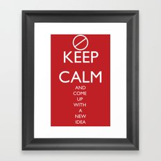 Maybe, Don't Keep Calm Framed Art Print