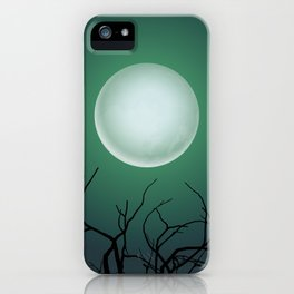 Halloween Moon Phases Wall Art iPhone Case