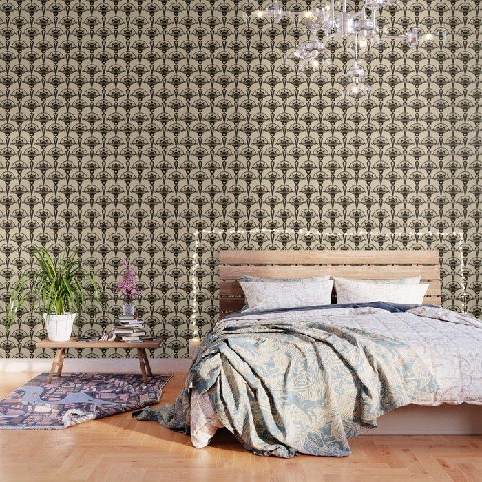 Seamless antique pattern art deco stylish print Wallpaper