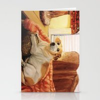 jack russell Stationery Cards featuring Jack Russell by Good Artitude