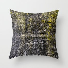 Ancient Grave Skull Throw Pillow