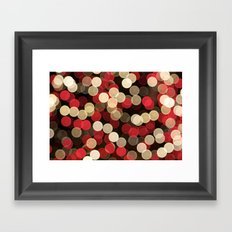 Winter Bokeh Framed Art Print