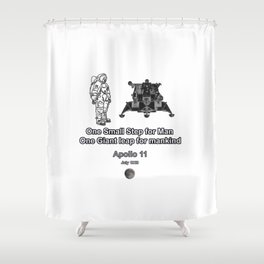 Space and the Moon Walk Shower Curtain