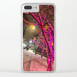 Longfellow Square Christmas Lights (1) Clear iPhone Case