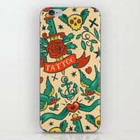 tattoos iPhone & iPod Skins featuring Tattoos by Illuminany