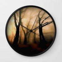 fog Wall Clocks featuring Fog by Nev3r