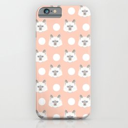 Ella - Birmin breed cat lovers pet owners cat person gift idea for cat lady hipster white cute kitte iPhone Case