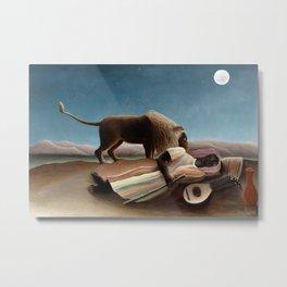 The Sleeping Gypsy by Henri Rousseau Metal Print