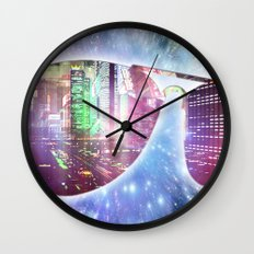 The city, the stars, and the avie shades. Wall Clock