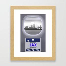 Jacksonville - JAX - Airport Code and Skyline Framed Art Print