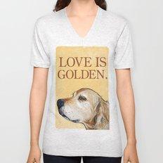 Love is Golden Unisex V-Neck