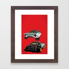 Lancia Stratos Framed Art Print