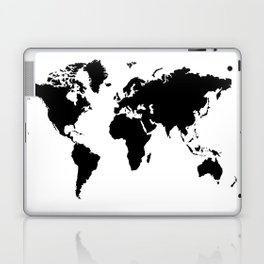 Black and White world map Laptop & iPad Skin