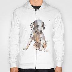 dalmatian, dalmatian puppy, dalmatian painting, cute puppy,  Hoody