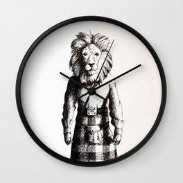 Lion in Kilt (Sketch) Wall Clock