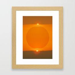 Double Sunset  Framed Art Print