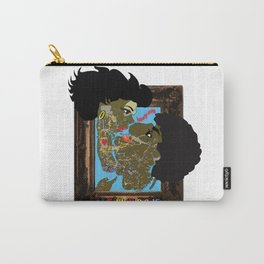 Framed Kiss-NYC map Carry-All Pouch