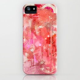 Modern contemporary pastel Blush and Peaches Abstract iPhone Case