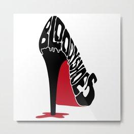 Bloody Shoes Metal Print
