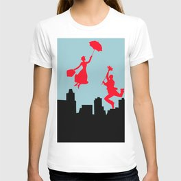 Blue Mary Poppins T-shirt